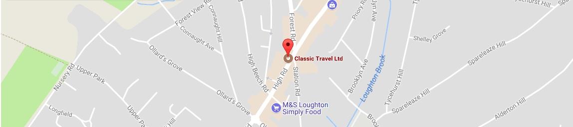 Classic Travel Location Map
